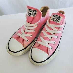 Pink Chucks Converse sneakers tennis shoes Sz 5